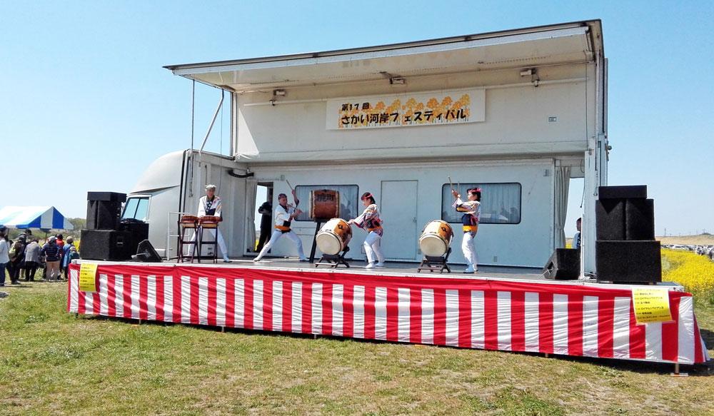 茨城県境町さかい河岸フェスティバル:ステージ