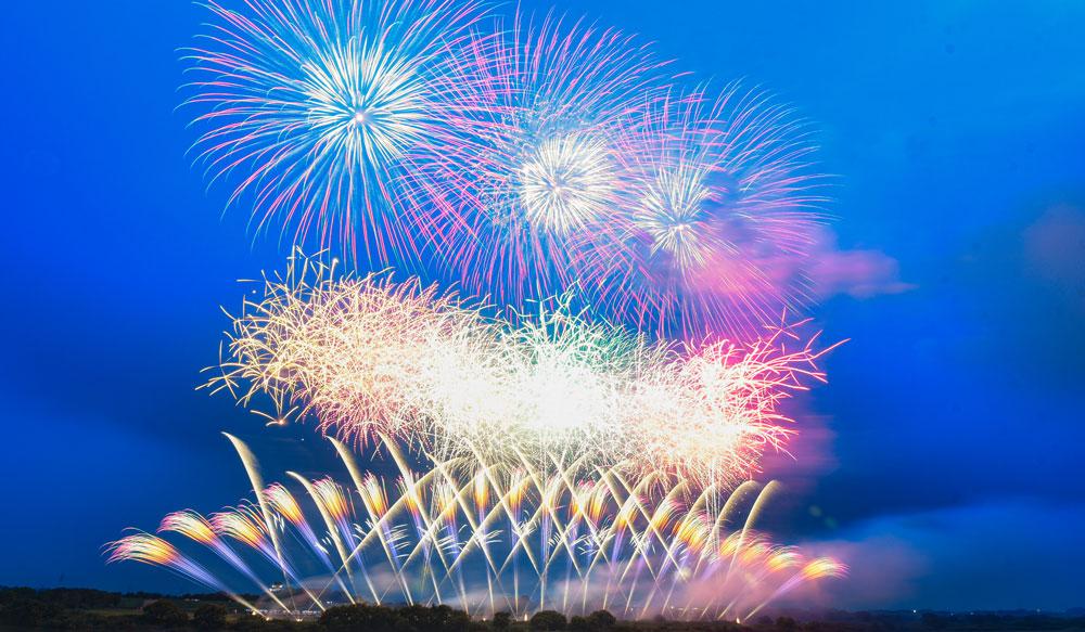 茨城県境町利根川大花火大会での花火4