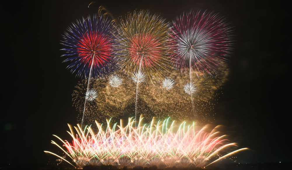 茨城県境町利根川大花火大会での花火6
